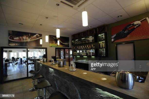 This picture taken on May 4, 2010 shows the bar area at NWU campus in Potchefstroom. The NWU campus will be the base camp for Spain's national...