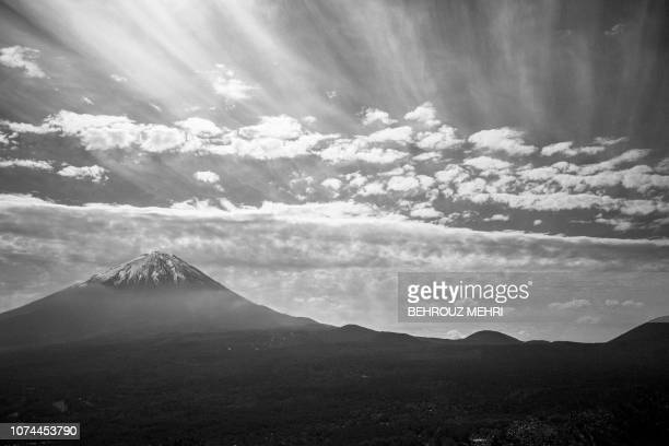 This picture taken on November 1 2018 shows a general view of Aokigahara Forest known as Suicide Forest on the northwestern flank of Mount Fuji in...