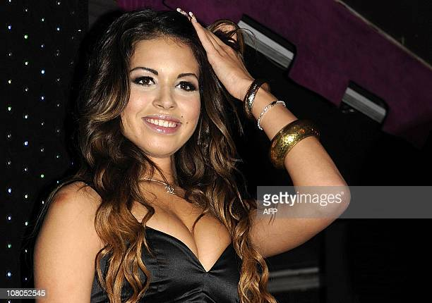 This picture taken on November 13 2010 in Milan shows a Moroccan girl Karima Keyek nicknamed Ruby Italian daily Corriere della Sera reported on...