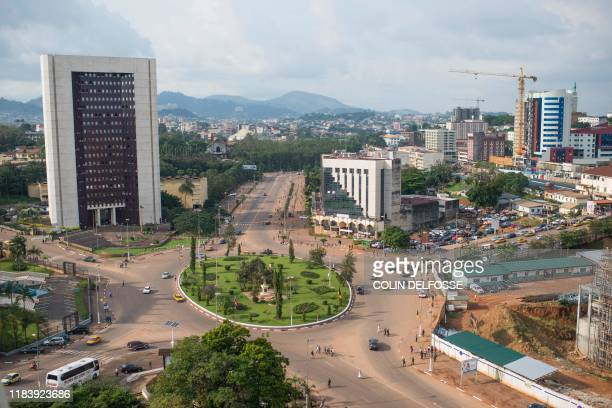 This picture taken on November 22 2019 shows a general view of the Yaounde's downtown ahead of the Central African Economic and Monetary Community...
