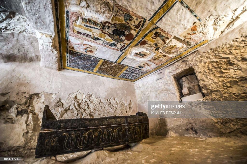 TOPSHOT-EGYPT-ARCHAEOLOGY-HERITAGE-HISTORY : News Photo