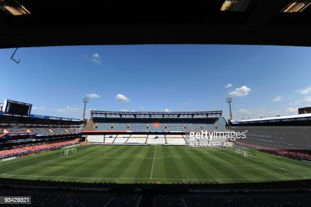 This picture taken on November 25 2009 shows a general view of the Loftus Versfeld Stadium in Pretoria one the 10 venues for the 2010 World Cup in...