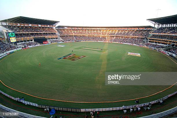 This picture taken on November 28 2009 during a cricket match between India and Australia shows a general view of the VCA Stadium Jamtha in Nagpur...