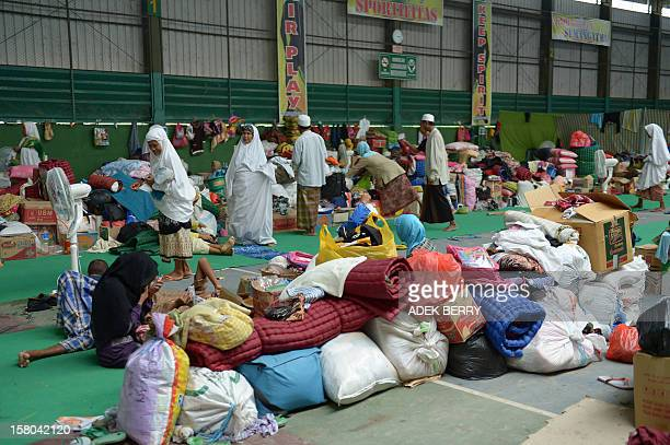 This picture taken on November 30 shows Indonesian Muslim Shiites at a temporary shelter in Sampang. Condemned as heretics, around 200...