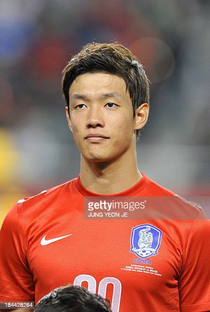 This picture taken on October 12 2013 shows South Korean defender Hong JeongHo ahead of a friendly football match with Brazil in Seoul AFP PHOTO /...