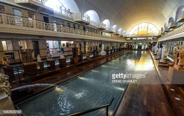 "This picture taken on October 19, 2018 shows the main exhibition room of ""La Piscine, Andre Diligen Art and Industry museum"" in Roubaix which..."