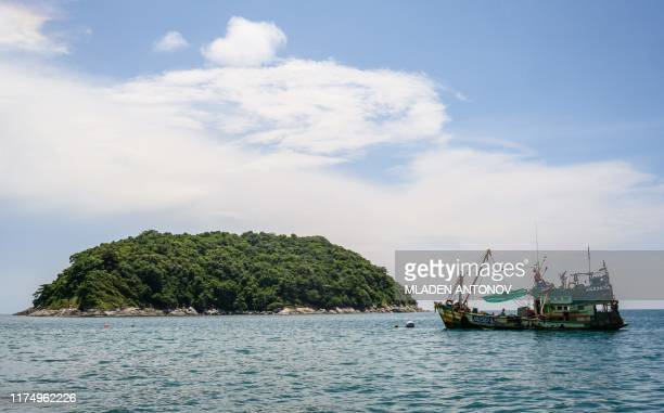 This picture taken on October 4 2019 shows an island in the Andaman Sea