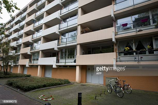 This picture taken on October 9 2013 shows the apartment where Frank R has lived for many years in Cuijk Dutch police are investigating a 48yearold...