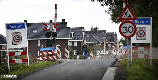 This picture taken on October 9 2013 shows the spot where Frank R was arrested on May 19 2013 in Bedum Dutch police are investigating a 48yearold man...