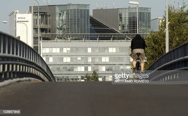 This picture taken on September 10, 2010 shows mobile phone manufacturer Nokia headquarters at Keilaniemi. Finnish telecommunications equipment giant...