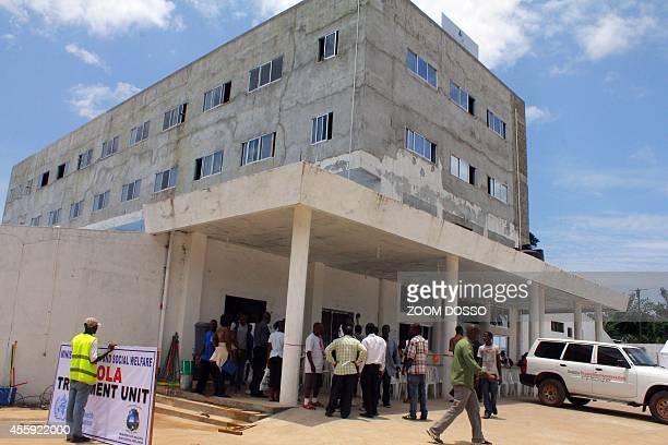 This picture taken on September 21 2014 shows the Island Clinic a new Ebola treatment centre that opened in Monrovia Liberia announced plans on...