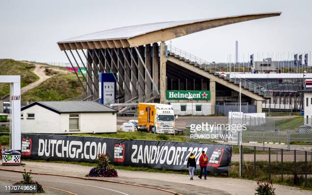 This picture taken on September 24, 2019 shows the Zandvoort circuit before renovations in order to get the circuit ready for the Dutch Formula One...