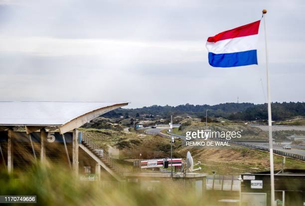 This picture taken on September 24 2019 shows the Zandvoort circuit before renovations in order to get the circuit ready for the Dutch Formula One...