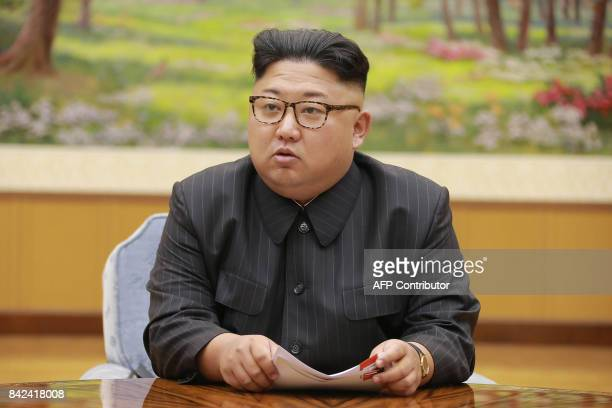 This picture taken on September 3 2017 and released by North Korea's official Korean Central News Agency on September 4 2017 shows North Korean...