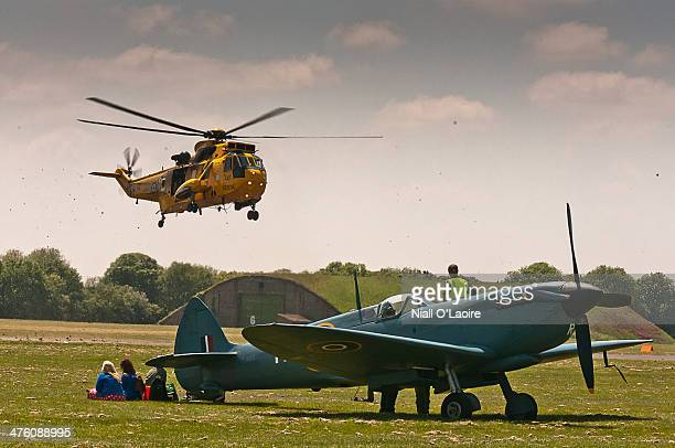 CONTENT] This picture was taken at the RAF Cosford 2013 air show A Westland Sea King takes off behind Spitfire PS915 'The Last'