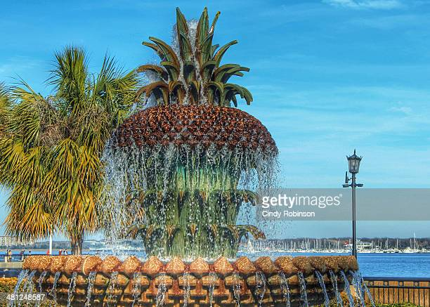 This pineapple fountain is a proud symbol of hospitality, southern style!