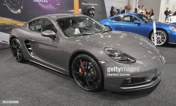 This Porsche 918 Cayenne is displayed during the Vienna Autoshow as part of Vienna Holiday Fair on January 10 2018 in Vienna Austria The Vienna...
