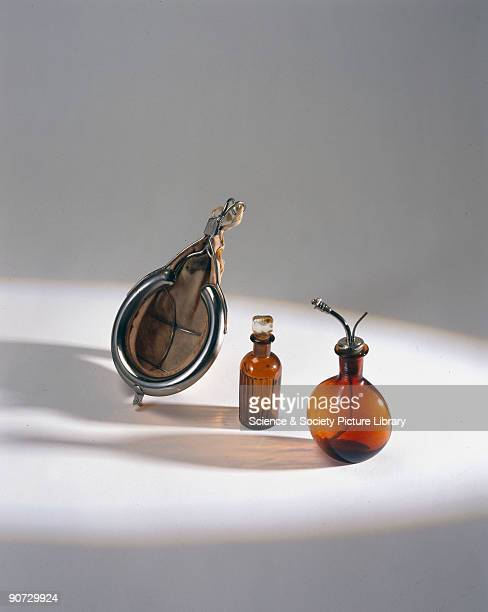 This portable anaesthetic kit consists of a chloroform bottle chloroform dropping bottle and Schimmelbusch mask in a bag It was made in Germany for...
