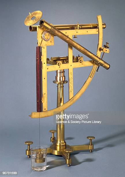 This portable astronomical quadrant was made in London by the famous English instrument maker John Bird It was sent with one of the expeditions...
