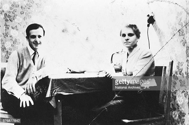This portrait of Lee Harvey Oswald and a Soviet friend was confiscated by the FBI during the Kennedy assassination investigation