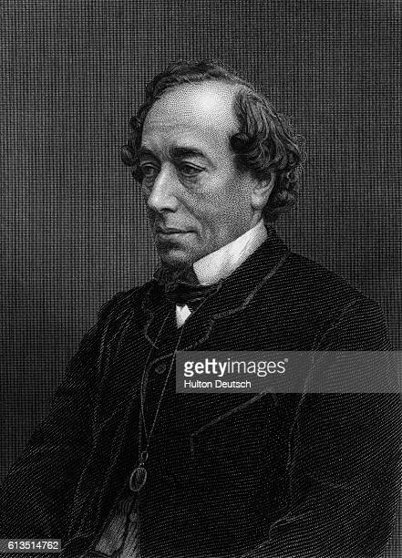 This portrait was engraved by GJ Stodart after a Photograph | Detail of Engraving of Benjamin Disraeli