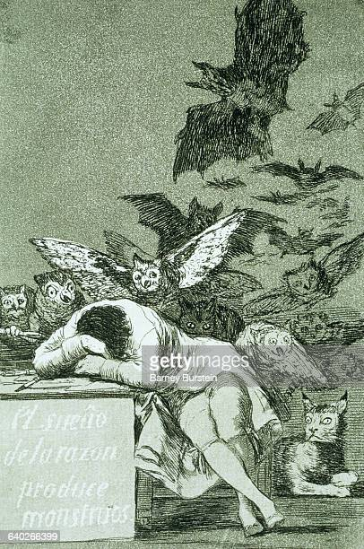 This print is number 43 from the series Los Caprichos by Francisco de Goya | Part of 'Los Caprichos' by Francisco de Goya Located in Worcester Art...