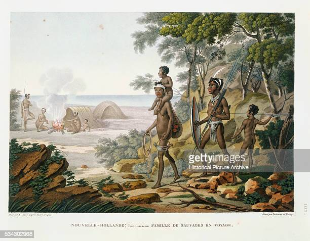 This print was made after a drawing by Sebastien Leroy and was published in Voyage Autour du Monde by Louis Claude Desaulses de Freycinet