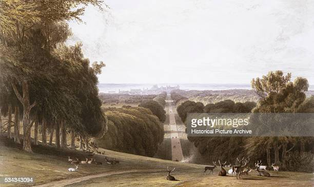 This print was published in the book Views of Windsor Eton and Virginia Water by William Daniell in London in 18271830