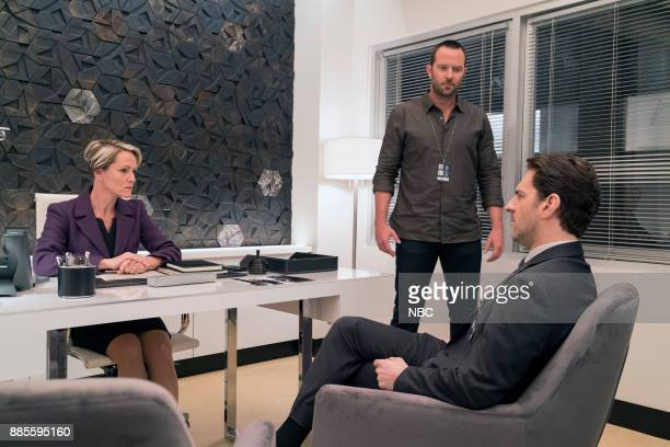 BLINDSPOT 'This Profound Legacy' Episode 305 Pictured Mary Stuart Masterson as Director Hirst Sullivan Stapleton as Kurt Weller Aaron Abrams as...