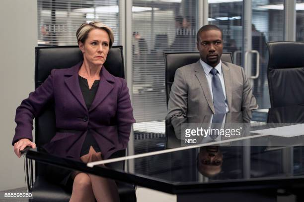 BLINDSPOT 'This Profound Legacy' Episode 305 Pictured Mary Stuart Masterson as Director Hirst Rob Brown as Edgar Reade