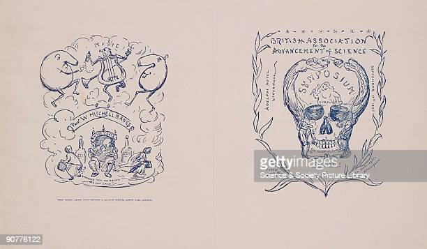 This programme for a symposium of the British Association for the Advancement of Science features on one side a personification of Professor W...