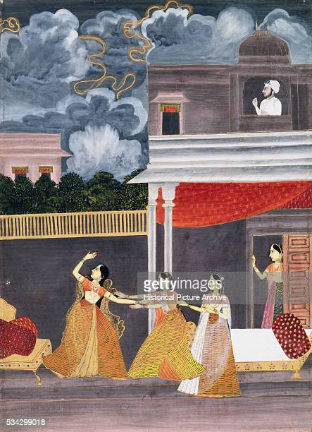 This Ragamala painting depicts a woman traveling to meet her lover at night | Part of 'Madhu Madhavi'