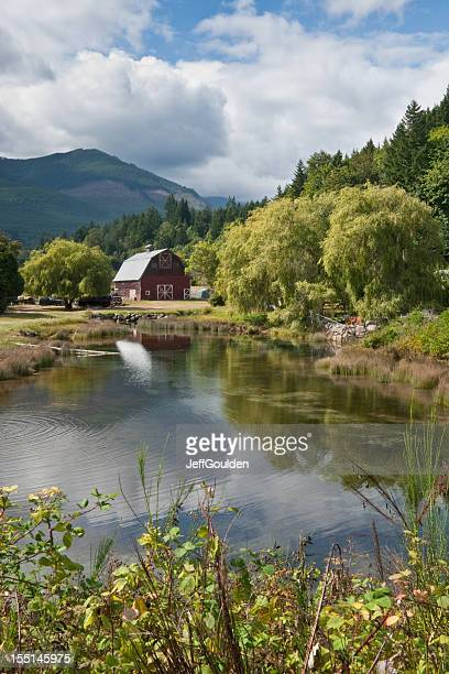 Rustic Red Barn Reflected in a Pond