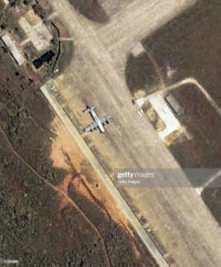 Satellite Image Of The Lingshui Military Airfield On The Southeastern Coast Of Haina : News Photo