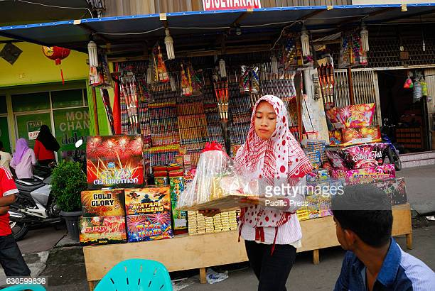 This seasonal traders usually reap more profits when the season of Eid Chinese New Year Christmas and the new year arrives in around medan town north...