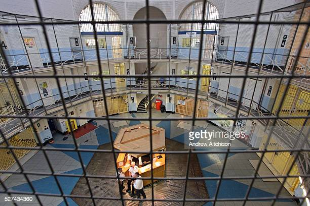 This section of Wandsworth prison is known as the central star and it leads to all original wings of the prison HMP Wandsworth in South West London...