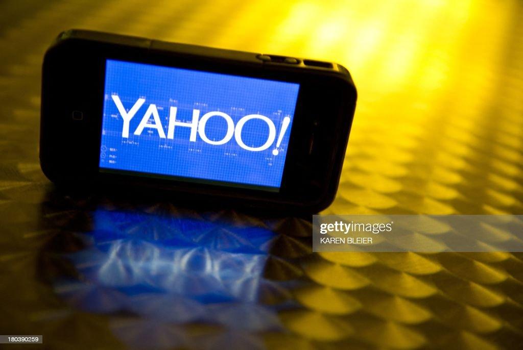 US-IT-COMPANY-YAHOO-LOGO : News Photo