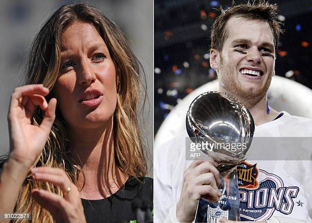 This September 22 2009 combination files photo shows NFL New England Patriots quarterback Tom Brady and his supermodel wife Gisele Bundchen It was...