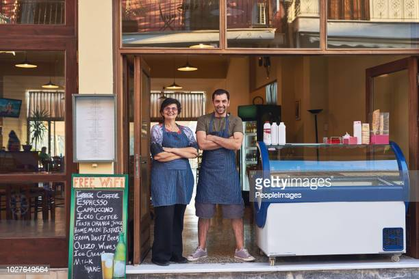 this shop has been in our family for generations - ice cream parlor stock photos and pictures