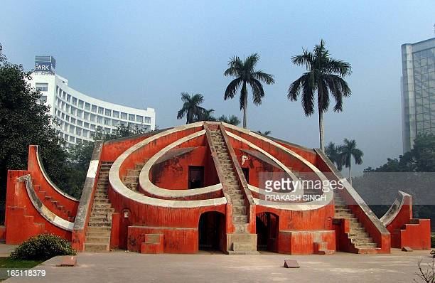 This shows a view of the ancient observatory Jantar Mantar in New Delhi on January 21 2010 The Yantra Mantra is located in New Delhi and consists of...