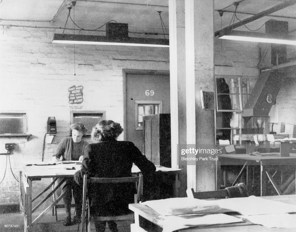 Code-breaking at Bletchley Park, 1943. : News Photo