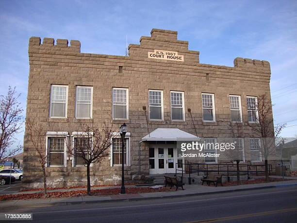 CONTENT] This small castellated courthouse is located on US Route 93 in the tiny town of Goldfield Nevada It was completed in 1908 Esmeralda County...