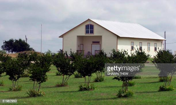 This small chapel in Waco, Texas, 09 June 2001 stands on the spot of David Koresh's Branch Davidian compound that was stormed and subsequently burned...