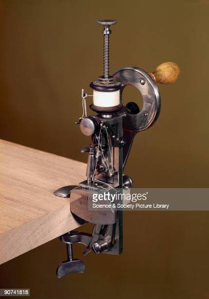 This small lockstitch sewing machine was patented by S A Rosenthal of Berlin Germany in 1885 and manufactured with some modifications by the Moldacot...