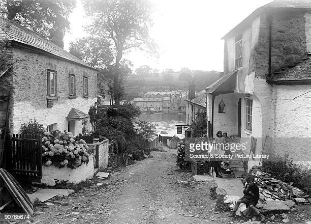 This small village was home to the author Daphne Du Maurier A ferry still crosses the River Fowey to the town of Fowey opposite This photograph was...