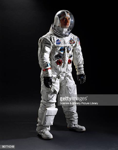 This spacesuit was worn by William Anders during the first manned flight round the Moon the Apollo 8 mission at Christmas 1968 During the Moon...
