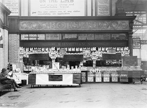 This stall sold books magazines and newspapers Station kiosks had a lot of business because so many people passed through the station every day There...