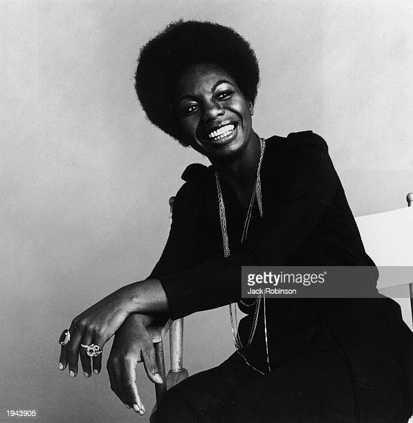 This studio portrait shows American pianist and jazz singer Nina Simone on October 30 1969 in an unspecified location Simone whose deep raspy voice...