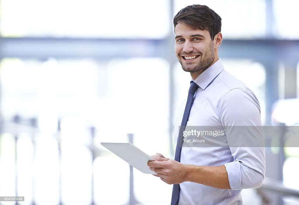This tablet exceeds my expectations : Stock Photo