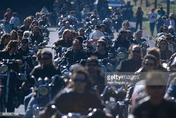 This traditional Free Wheels Festival is organized by Hell's Angels France in Cunlhat a village located in the French region of PuydeDome | Location...
